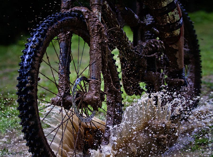 Погода усложняла велотрассу