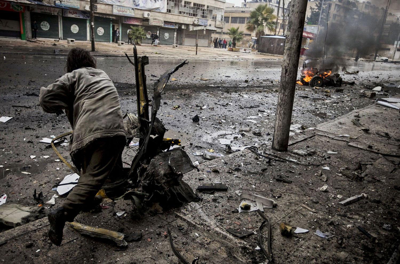 во время продолжительной гражданской войны в Сирии, фото