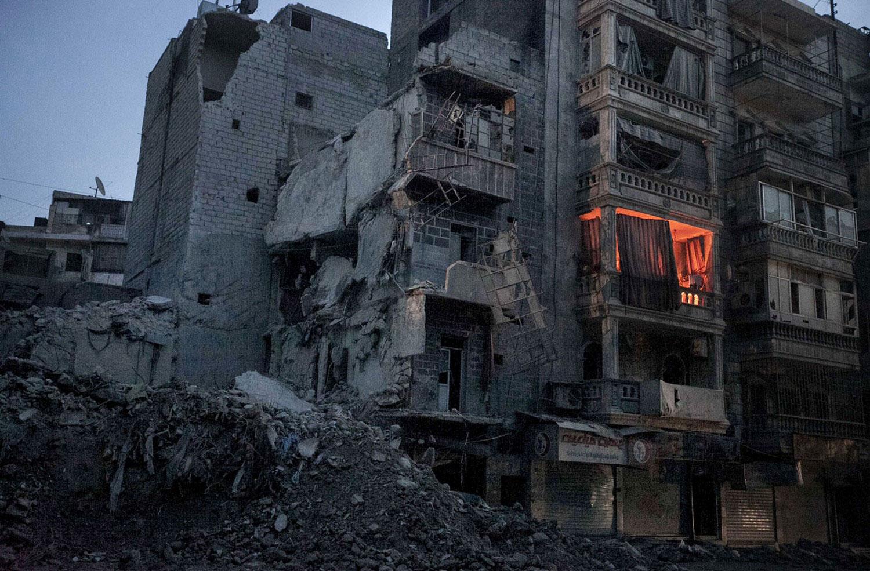 сирийско-повстанческая армия контролирует улицы Алеппо, фото