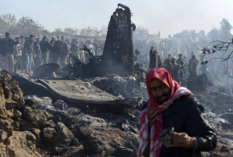 сбитый истребитель Сирии, фото