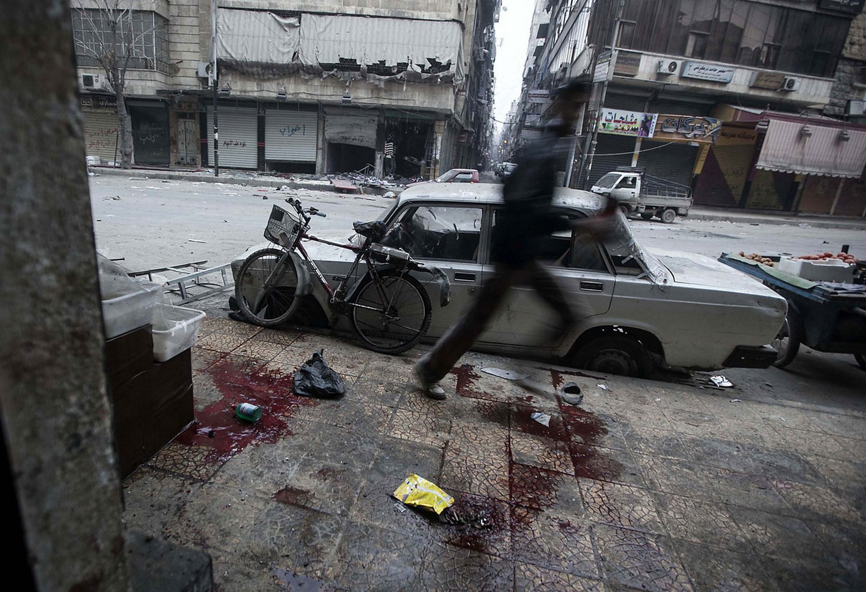 во время боевых действий в Алеппо, фото