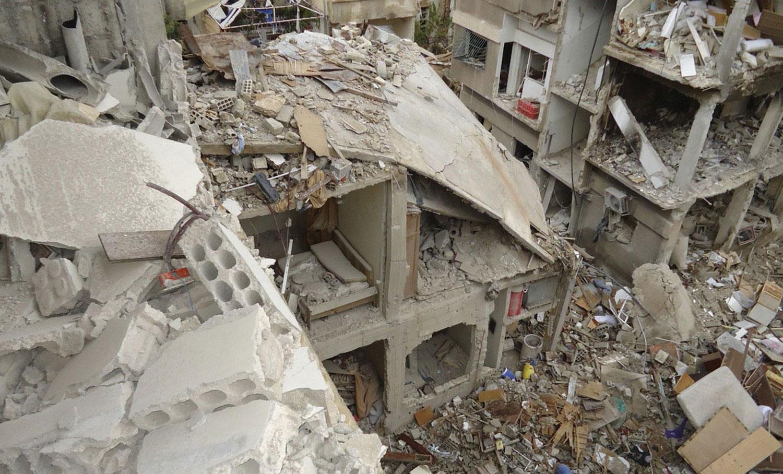 Разрушенные здания Сирии, фото