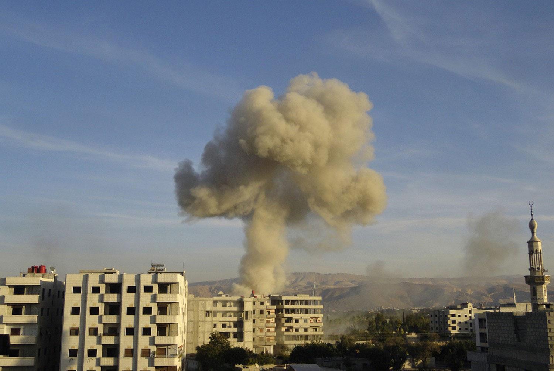 Сирия в дыму, фото