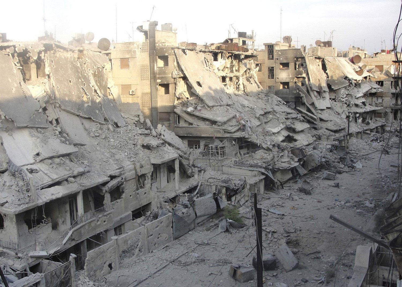 Разрушения в ходе гражданской войны, фото