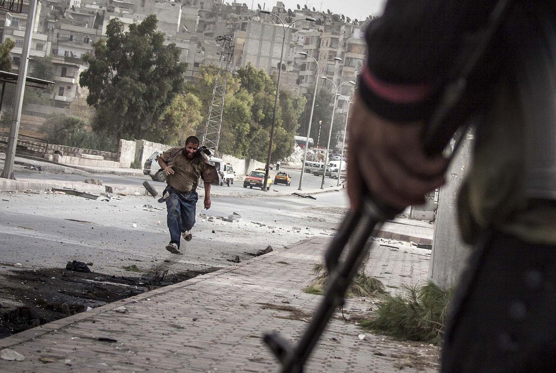снайперы на улицах Сирии, фото