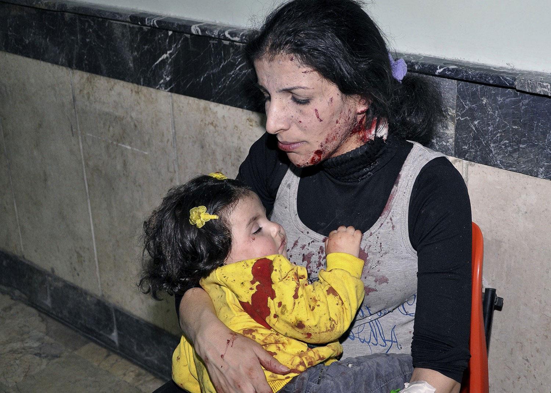 люди в госпитале Дамаска, фото