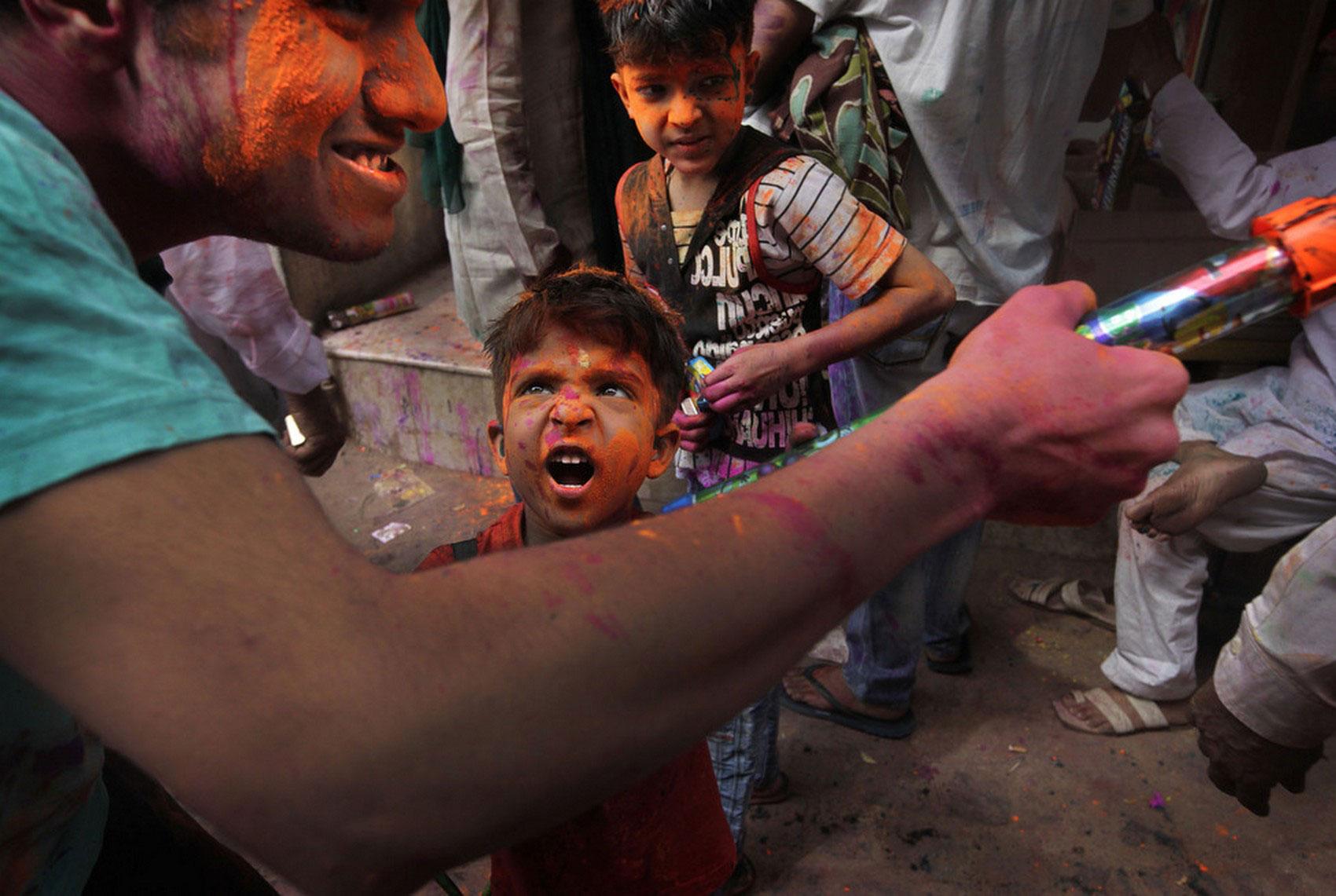Холи в Нью-Дели