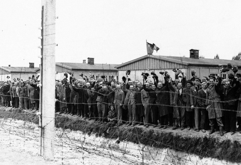 в концлагере Дахау, фото второй мировой войны