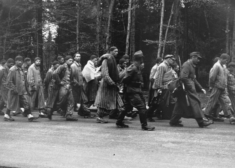 Марш смерти заключенных, фото второй мировой войны