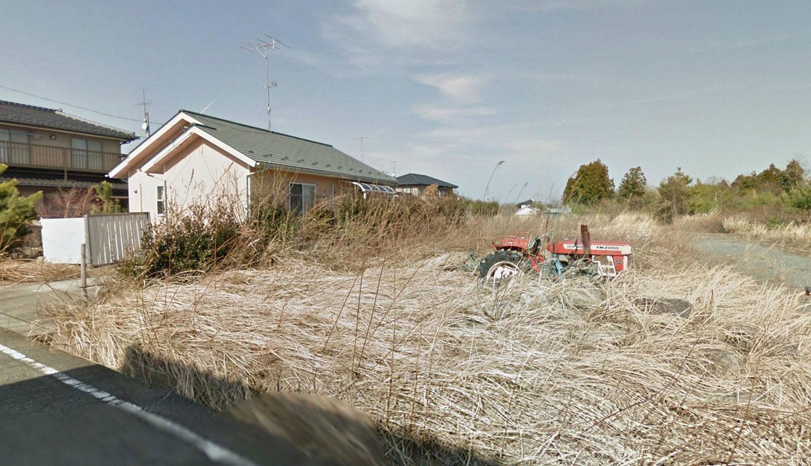 заросшие травой трактора