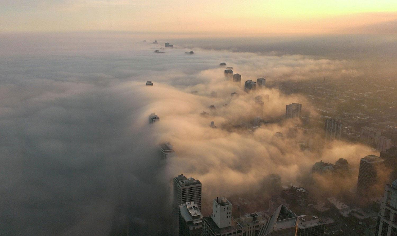 штат Иллинойс в тумане