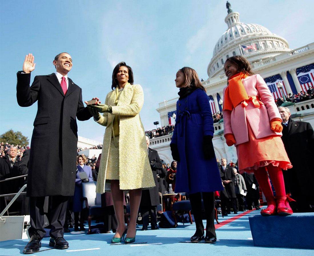 Обама с женой Мишель, фото США
