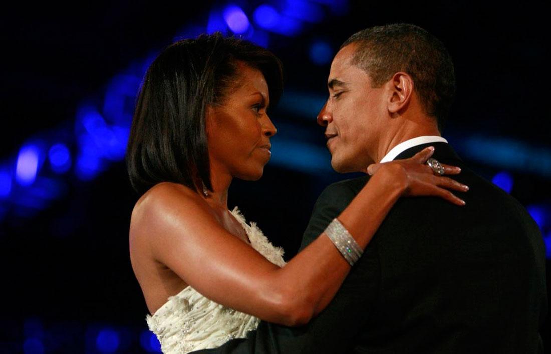 Обама с женой, фото США