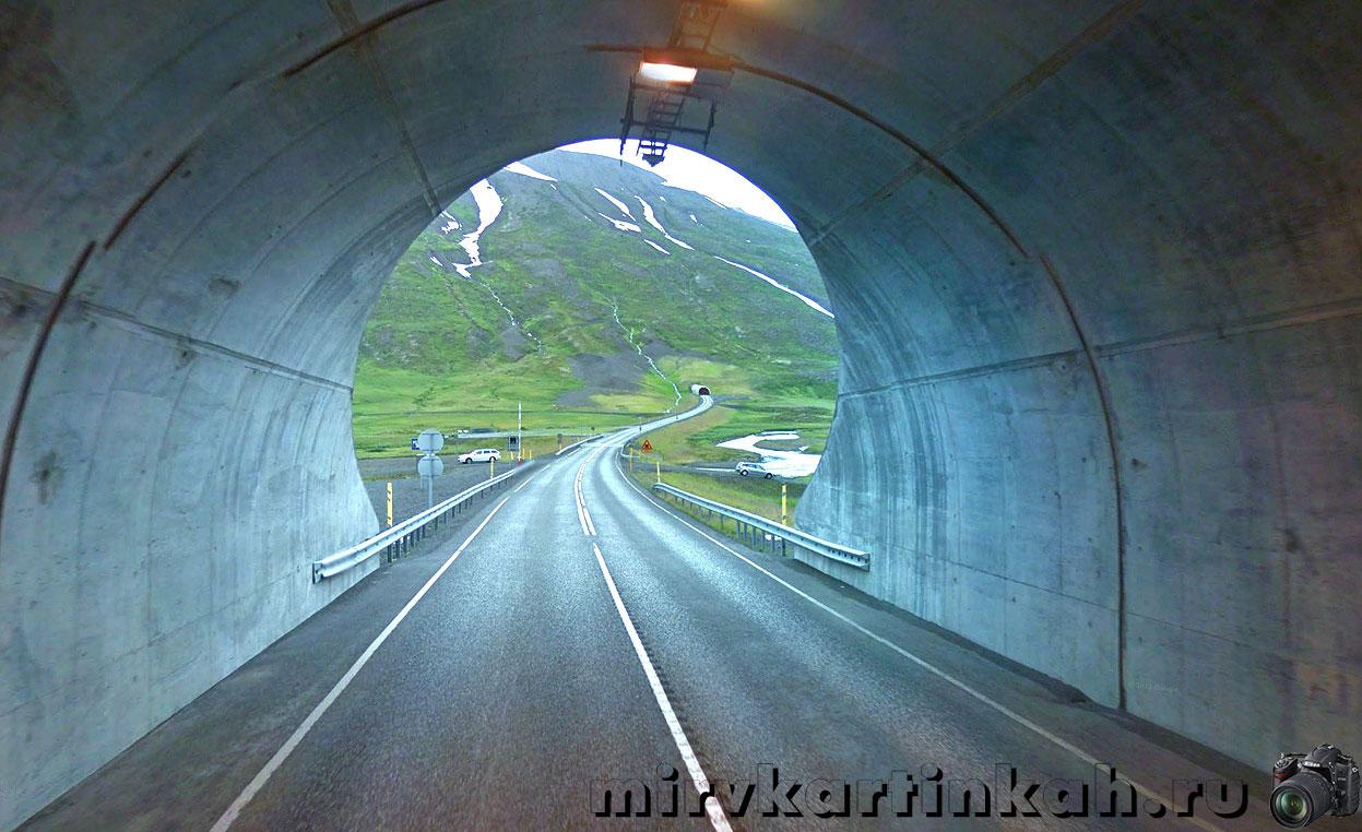 дорога между тоннелями