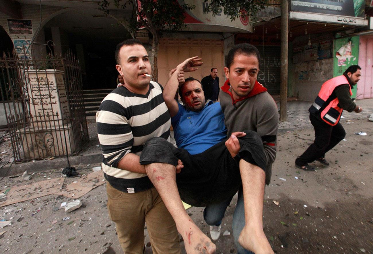 эвакуация раненых в секторе Газа