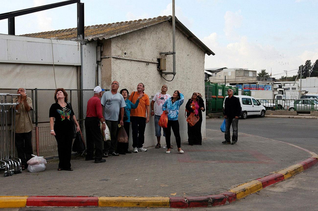 авианалет в южном городе Ашкелон, Израиль