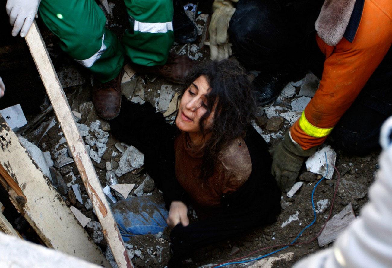 дом рухнул после израильского удара