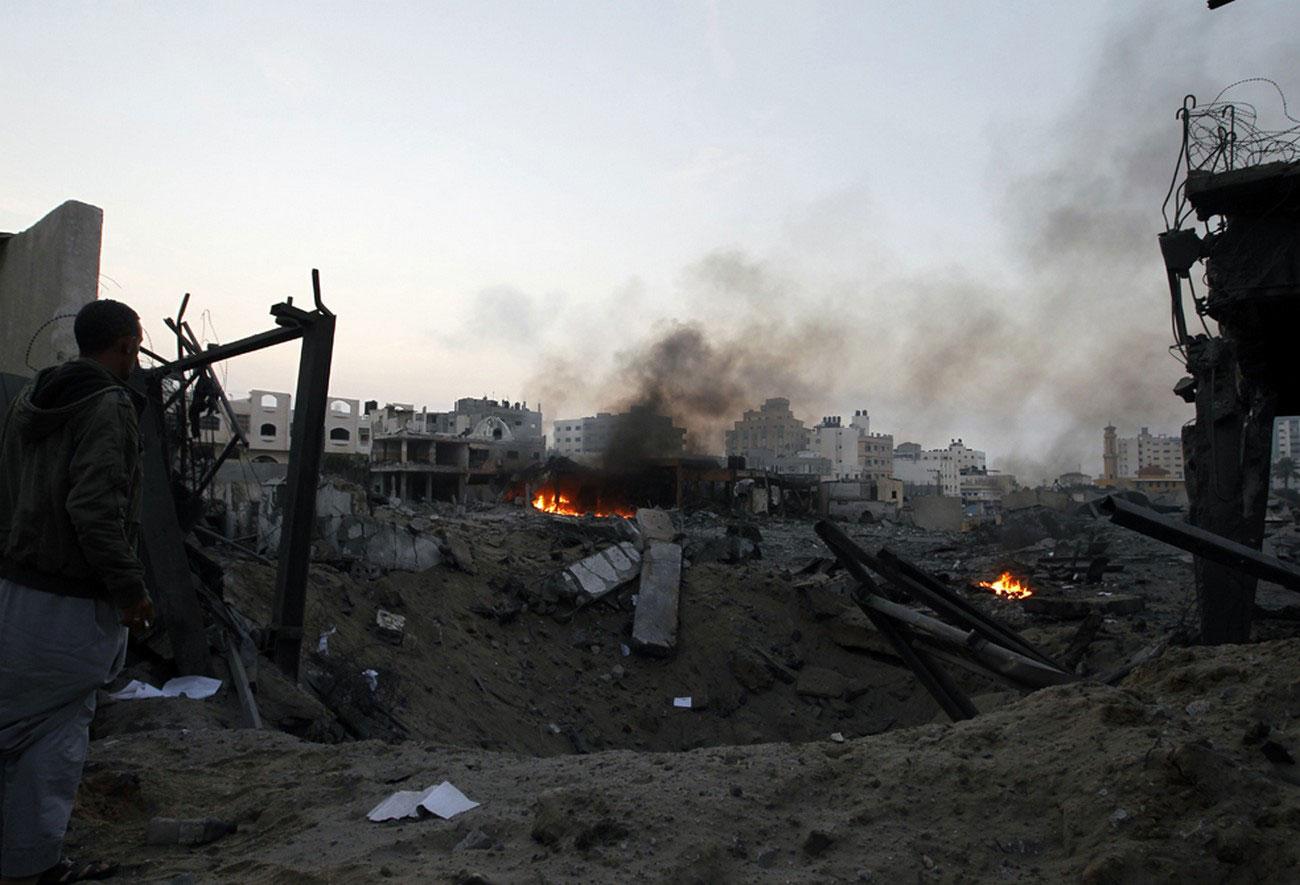 Разрушения после бомбардировок израильских ВВС