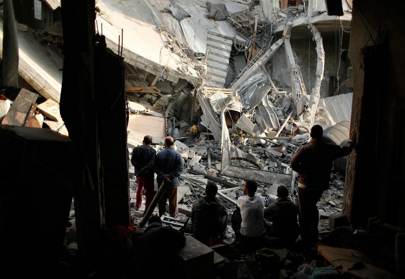 разрушенный палестинский дом, фото