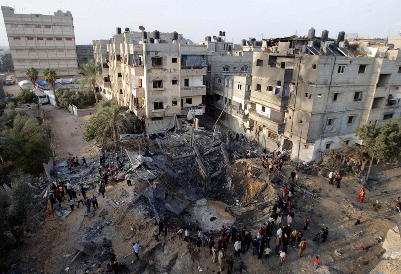 руины на юге сектора Газа