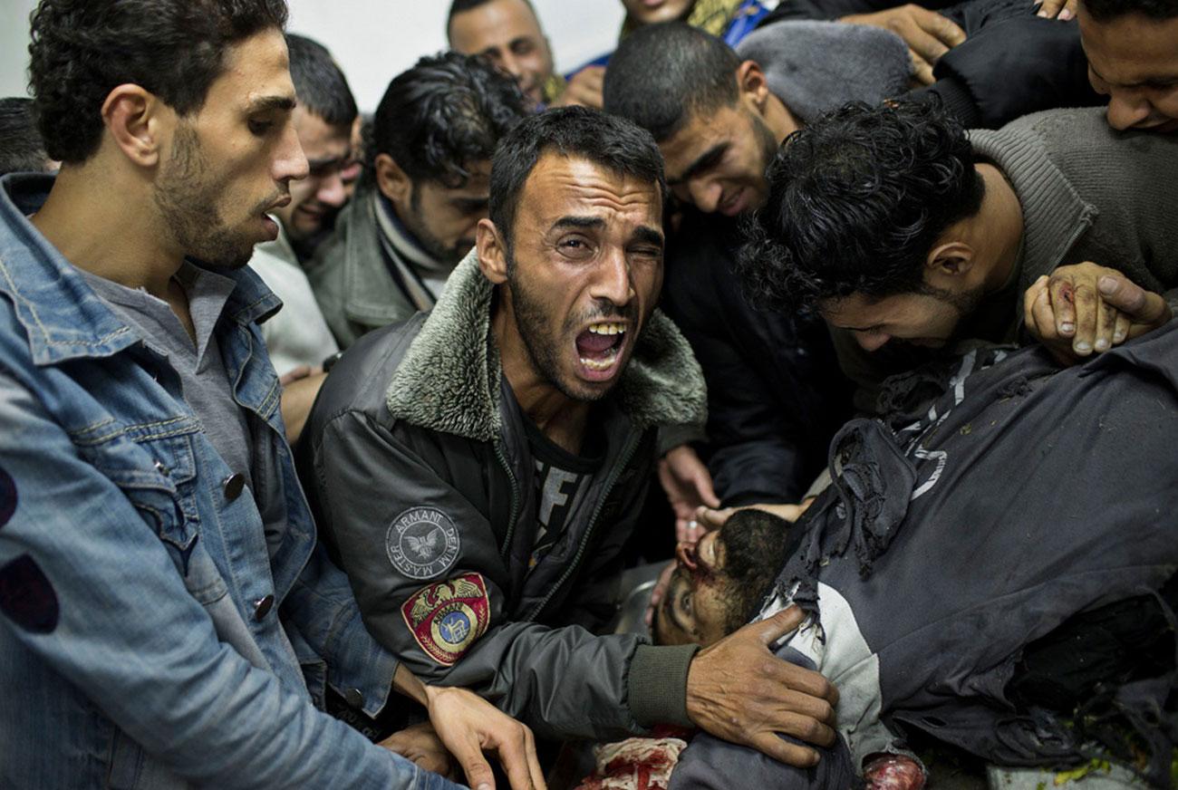 в морге больницы Шифа в городе Газа