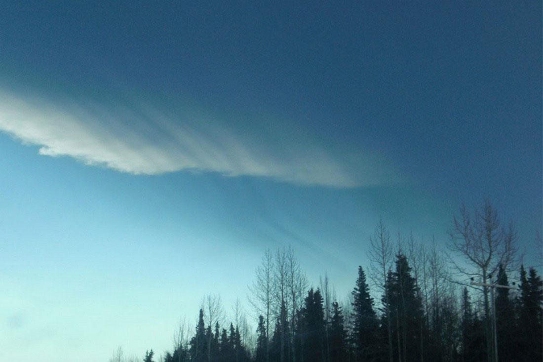 пепел оседает на городах, фото с Аляски