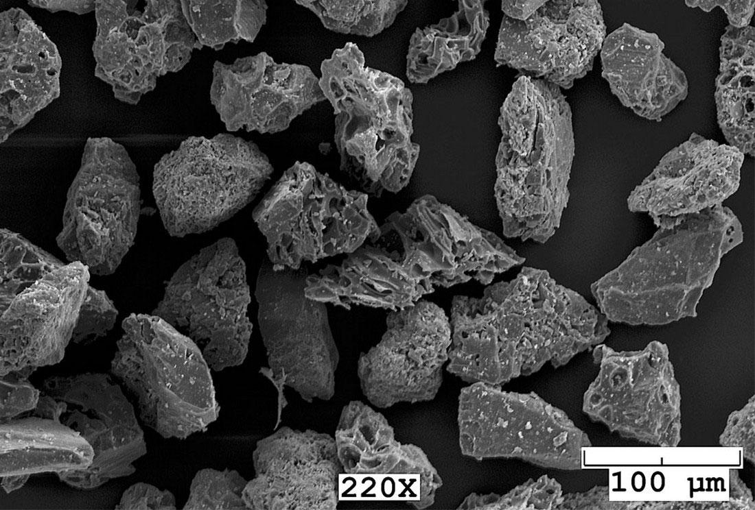 частицы вулканического пепла, фото с Аляски