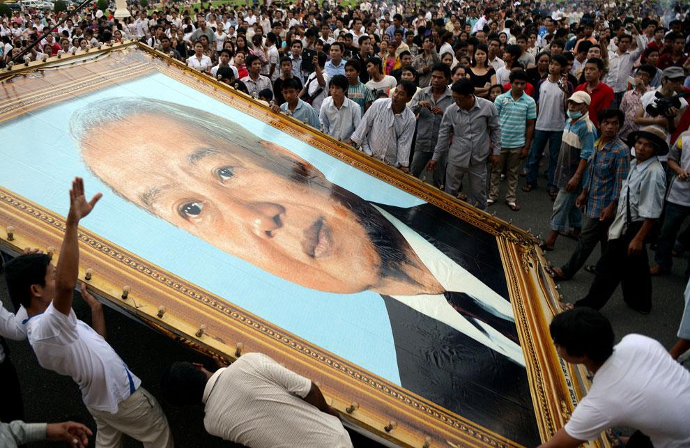 портрет камбоджинского лидера, фото