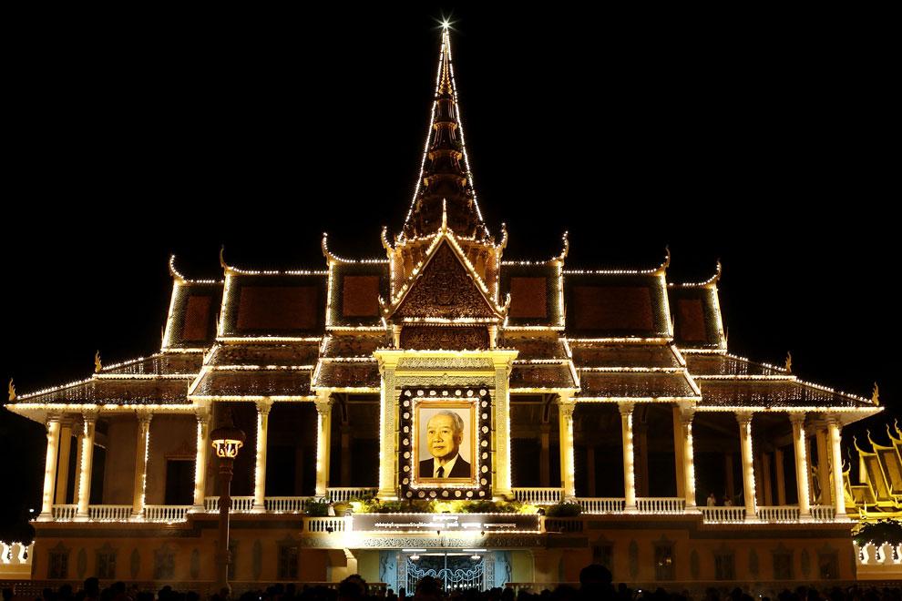 дворец в Пномпене, Камбоджи, фото