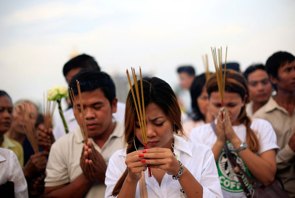 похороны в Пномпене, Камбоджа, фото