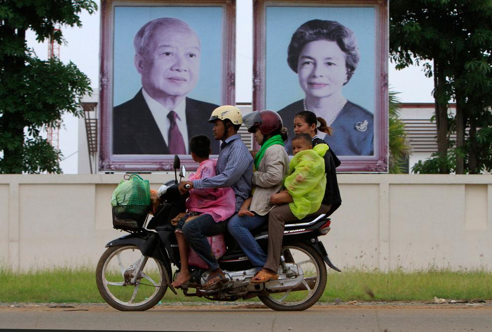 портреты королевской семьи, Камбоджа, фото