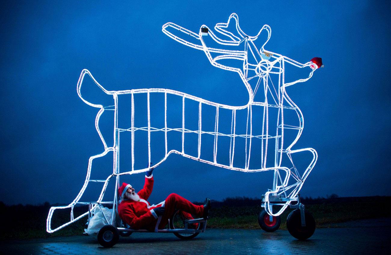 рождественский велосипед, фото