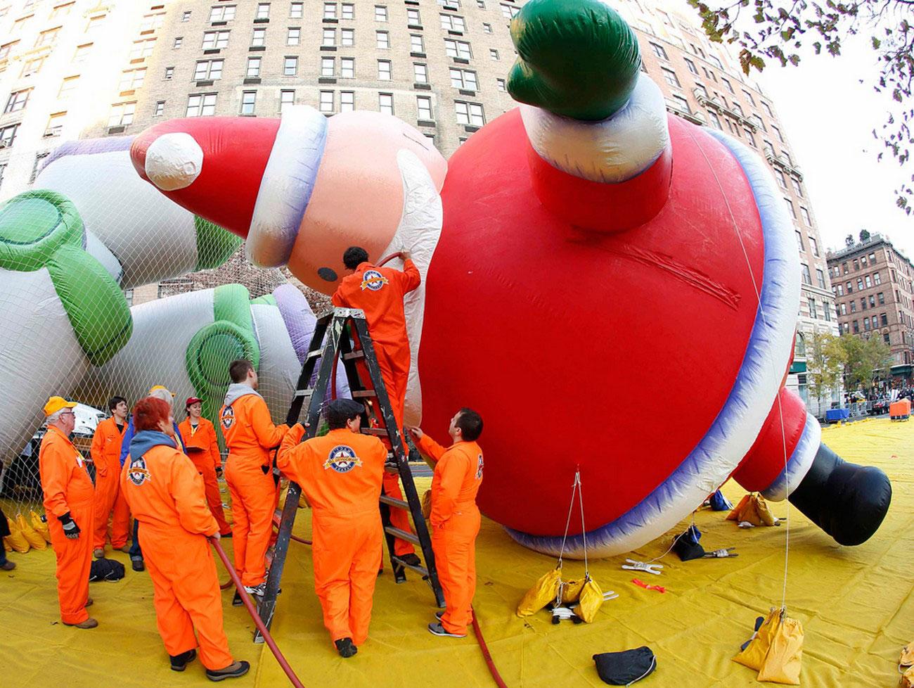 воздушный Дед Мороз, фото