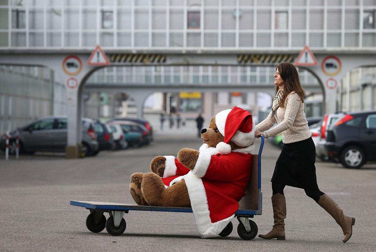 Рождественский плюшевый медведь, фото
