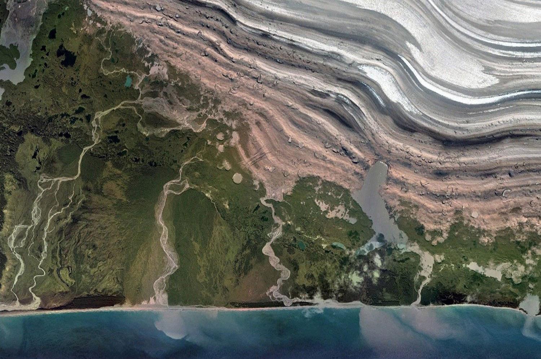Часть ледника Маласпина, фото
