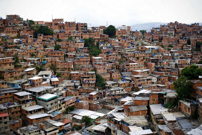 опасный район Каракаса, фото