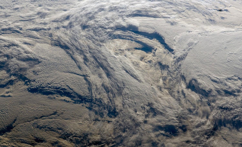 облака над Тихим океаном, фото