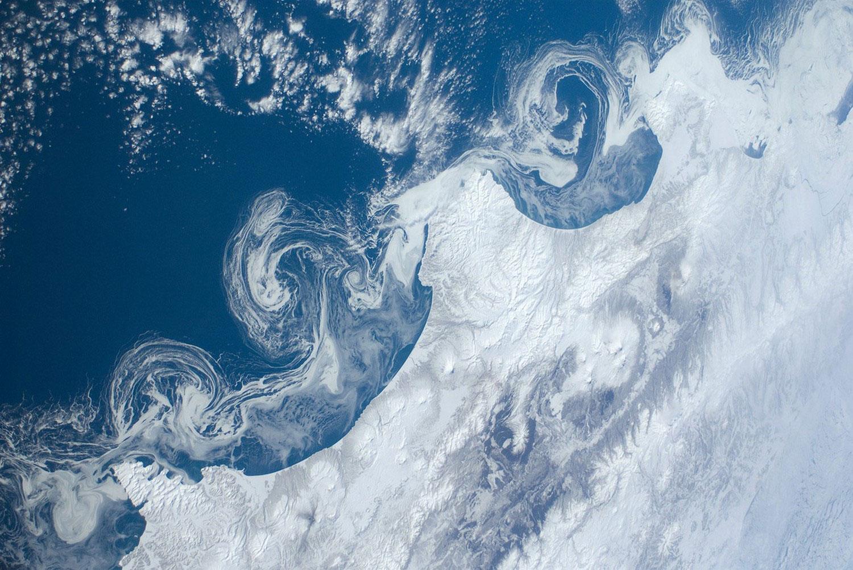 Льдины вдоль побережья Камчатки, фото