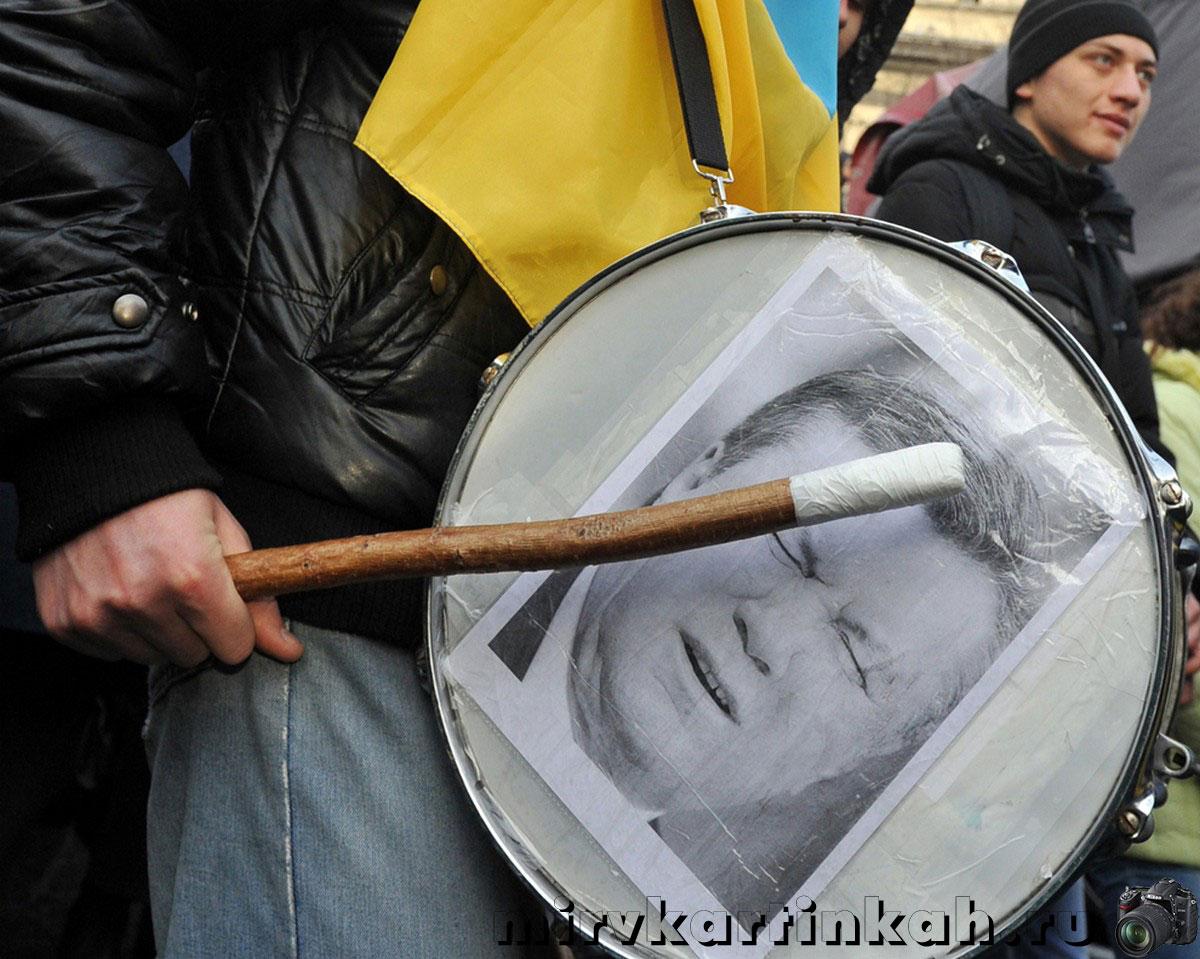 барабан с портретом президента