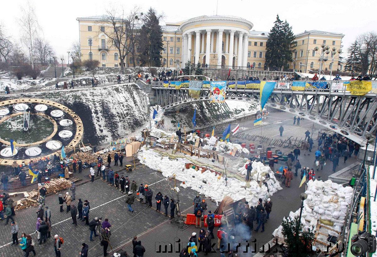 баррикады в центре Киева