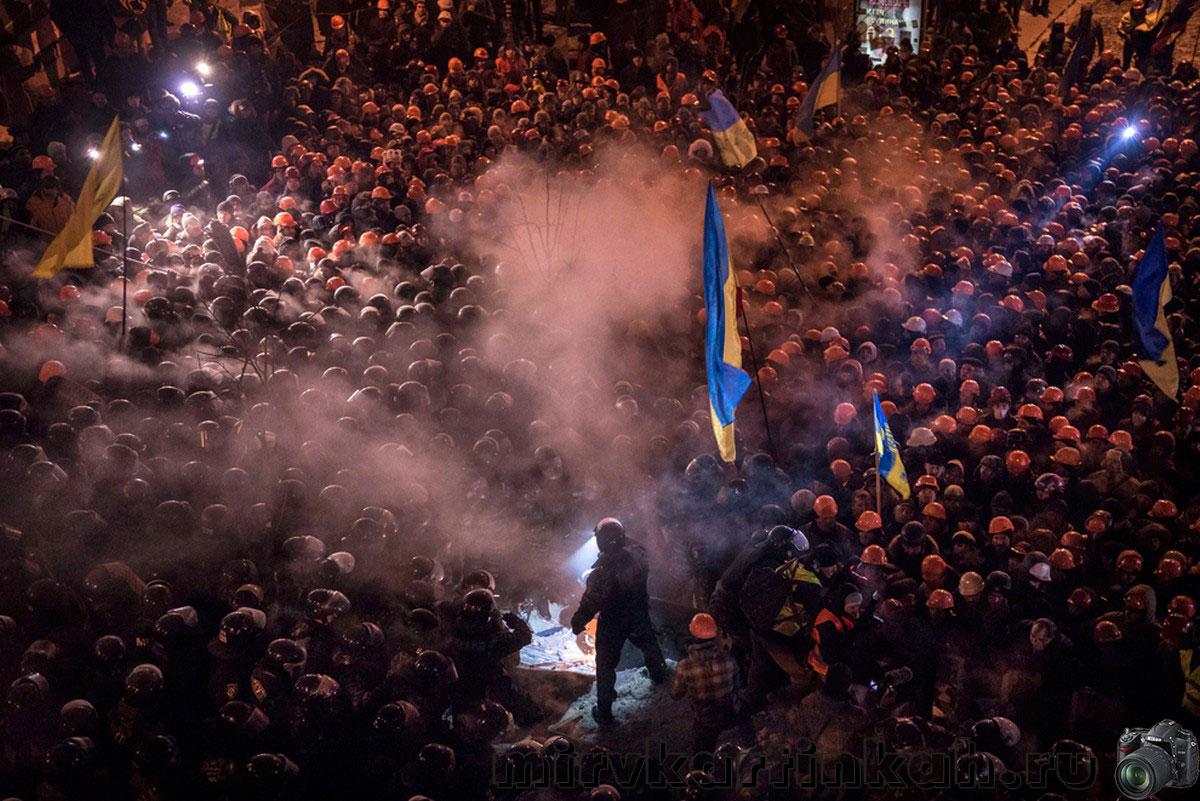 Столкновения людей с полицией