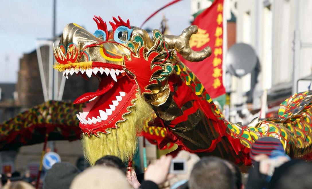 Празднование китайского Нового года в Ливерпуле, фото