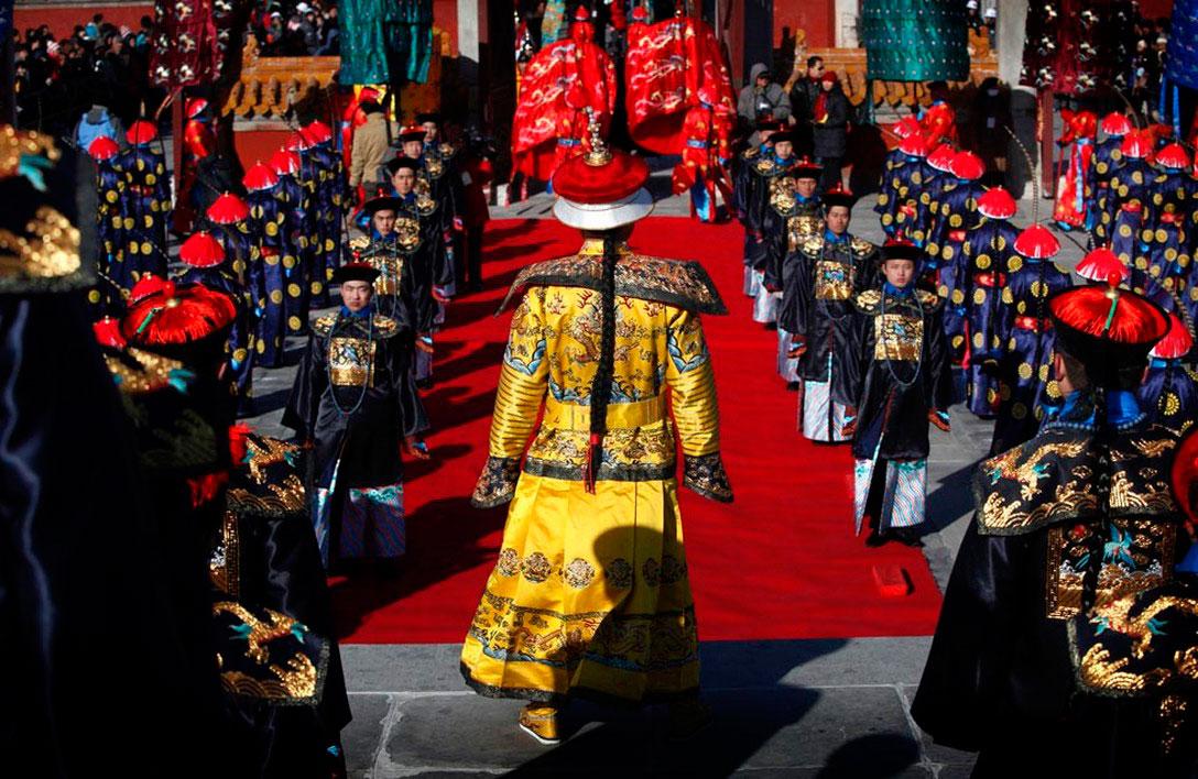 накануне китайского Нового года в Пекине, фото