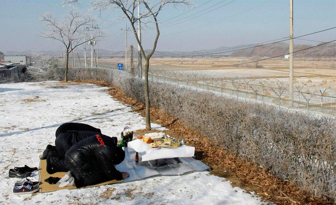 празднование китайского нового года на границе корейской, фото