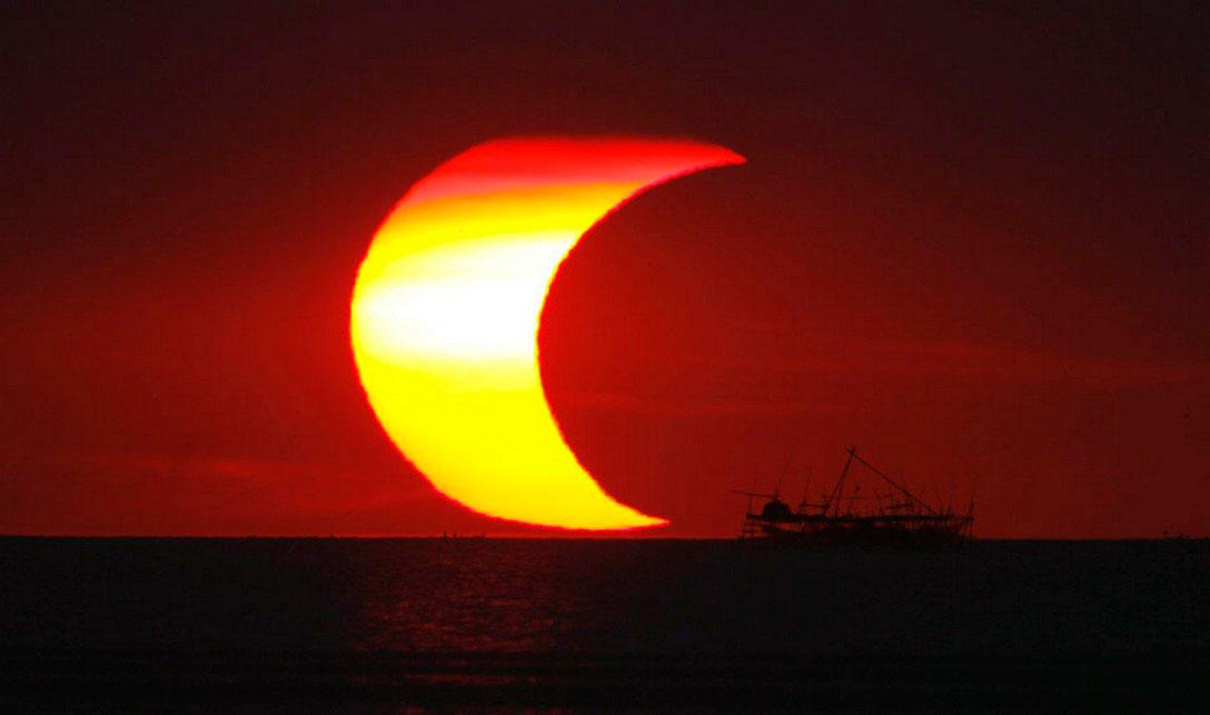 затмение солнца, фото