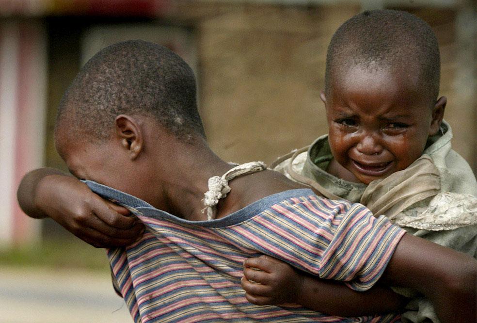 дети в лагере беженцев, Конго, фото