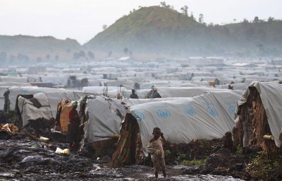 Лагерь Мугунга для беженцев, Конго, фото