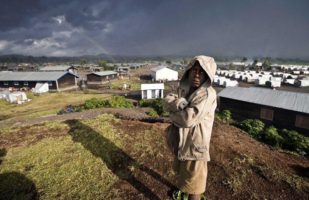лагерь для беженцев в деревне Кибати, Конго, фото