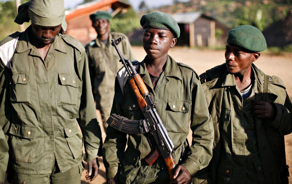 дети-солдаты, Конго, фото