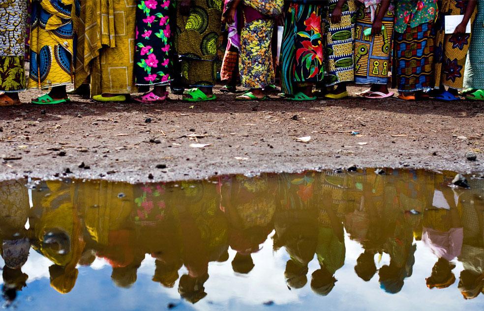 очередь на паёк, Конго, фото